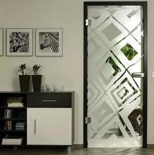 Doors made of glass interior (between rooms)