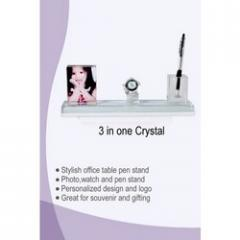 3 in One crystal Pen Stand