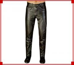 Biker Leather Jeans