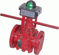 Teflon sleeved plug valves with Actuator