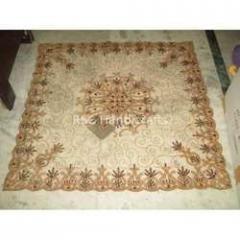 Flower Print Net Table Cloth