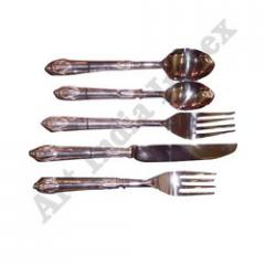 Silver Plated Brass Cutlery Set Of 5 Pcs