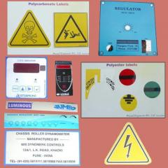 Polycarbonate / Polyester Labels