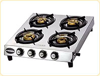 Jindal Elegance Four Burner Gas Stove without