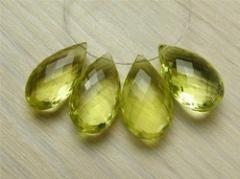 Topaz faceted briolette