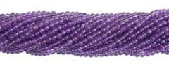 Amethyst Plain Round Beads