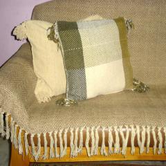 Shaneel Beige Throw / Cushion Covers