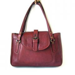 Cactus Brown Leather Leather Hand Bag