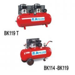 Lubricated Air Compressor- Belt Driven Double