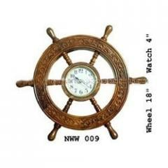 Decorative Handmade Wooden Steering Ship Wheel