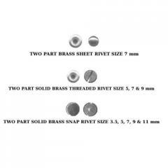 Two Part Brass Sheet Rivet