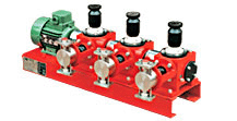 Multiheaded Pump for 2 to 3 component mixing