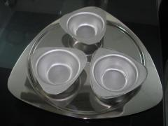 Stainless Steel Trangle Bowl