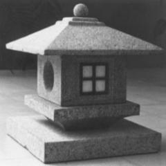 Garden granite lantern