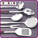 Marroon Handle 7 Pcs. Kitchen Spoons