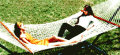 Cotton Deluxe Double Rope Hammock