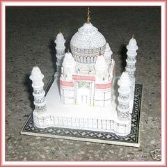White Marble Taj Mahal Replica