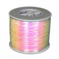 Rainbow metallic yarn