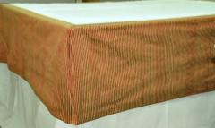 Silk bed skirt