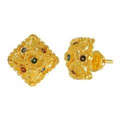 Gold Earring & Tops
