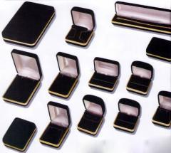 Black velvet jewelry boxes