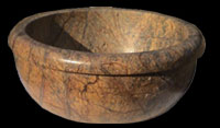 Marble Wash Basin / Bowl - Rain Forest Brown