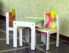Раскрашенный вручную Стул & Стол