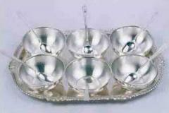 Silver Ice Cream Bowl Sets
