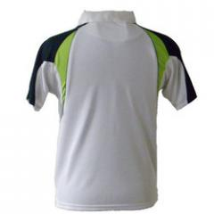 White With Green Patch T-Shirt-back