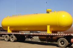 Hydrogen gas tank installation