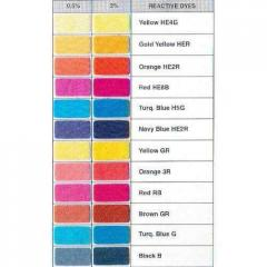 Reactive Dyes - Shade Card 1