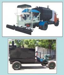Bitumen sprayer, Asphalt distributor, pressure,