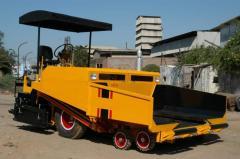 Asphalt road Paver finisher machine, paving