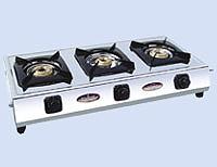 Three Burners Gas Stove SS (Non-Auto &