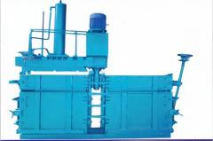 Hydraulic bailling machine for paper