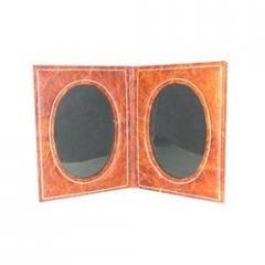 Leatherite Dual Photo Frame