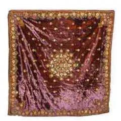 Hand Embroidered Velvet Table Cover