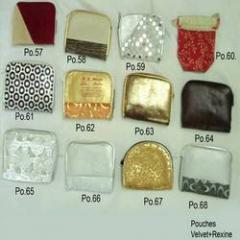Velvet and Rexine Pouches