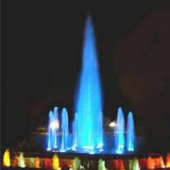 Water Fountains (Night Blue)