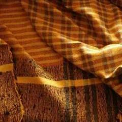 Golden Horizontal Striped Fabric For Cushion