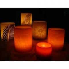 Dipped Lantern Candles
