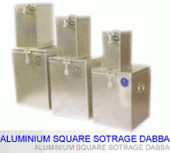 Aluminium Square Storage Dabba