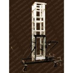 Aluminium Tower Extension Ladder With M.s. Trolly