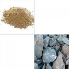Bentonite Powder and Limestone