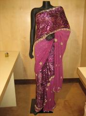 Animal Print Embroidered Saree