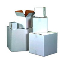 White Corrugated Box