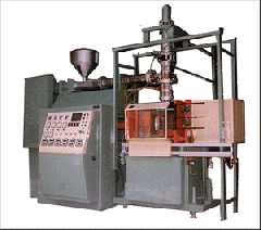 Automatic plastic blow moulding machine