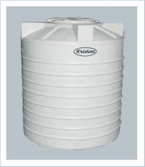 White Triple Layer Round Water Storage Tank