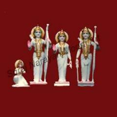 Shri Ram with Sita and Lakshman statues
