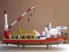 Pipe Laydown Barge Model